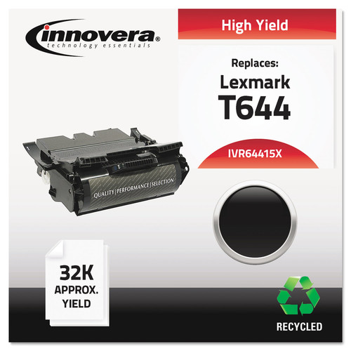 Innovera IVR64415X Remanufactured 64415XA (T644) High-Yield Toner, Black