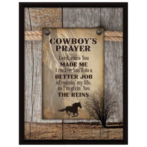 Dexsa ''Cowboy's Prayer...'' Textual Art Plaque