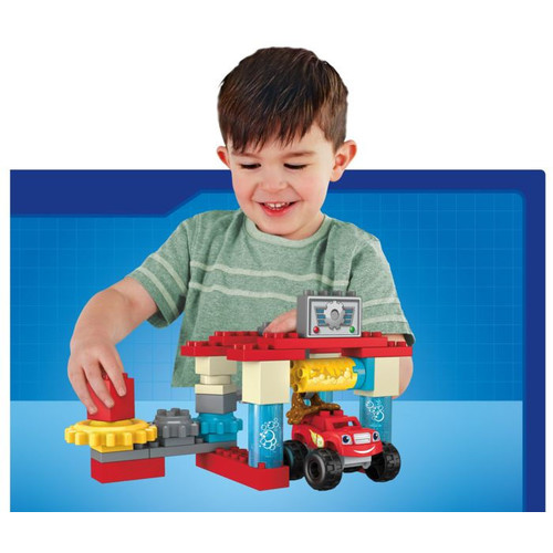 Mega Bloks Blaze & The Monster Machines Axle City Truck Wash Building Set Building Kit