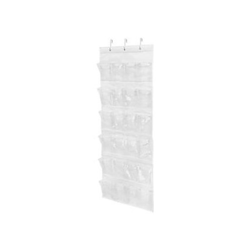 Honey-Can-Do SFT-01575 24-Pocket Over-The-Door Closet Organizer, Cool White