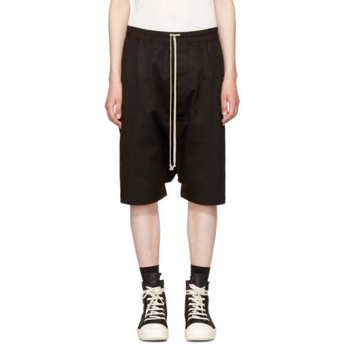 RICK OWENS Black Double Twist Rick'S Pods Shorts