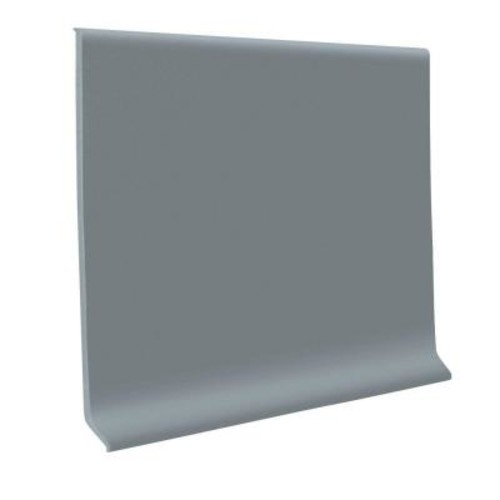 ROPPE Steel Gray 4 in. x 120 ft. x 1/8 in. Vinyl Wall Cove Base Coil