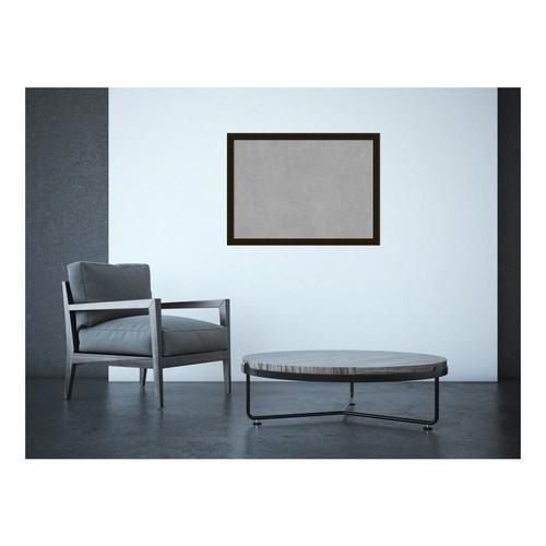Amanti Art Espresso Brown Wood 30 in. x 22 in. Framed Magnetic Memo Board