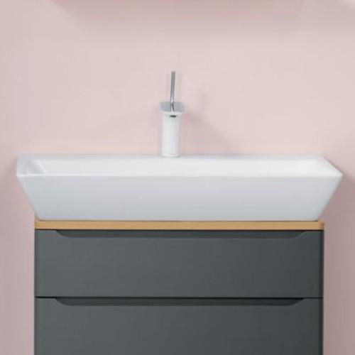 Ronbow Signature Series Wide 31'' Ceramic Rectangular Vessel Bathroom Sink