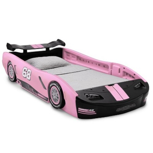Delta Children Turbo Race Car Twin Bed - Pink