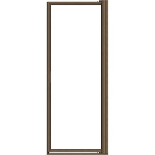 Basco Deluxe 29-1/2 in. x 67 in. Framed Pivot Shower Door in Oil Rubbed Bronze