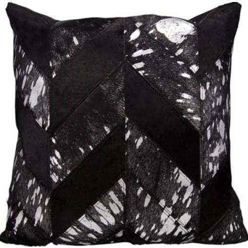 Nourison Kathy Ireland Throw Pillow; Black/Silver