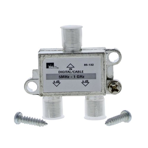 Ideal 5 MHz - 1 GHz 2-Way High-Performance Cable Splitter (Standard Package, 4 Splitters)