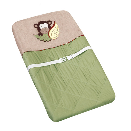 Sweet JoJo Designs Green Monkey Changing Pad Cover