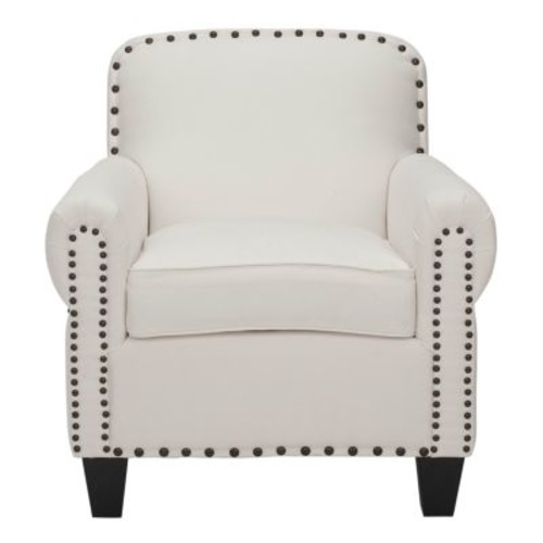 Safavieh MCR4573B Abigail White Club Chair