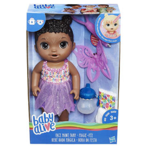 Baby Alive Face Paint Fairy Doll - African American