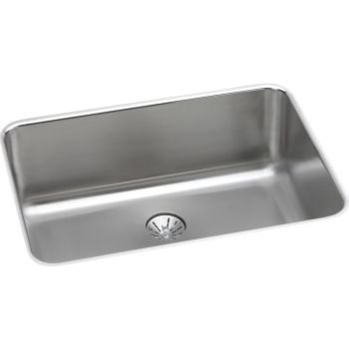 Elkay Lustertone ELUH241610PD Single Bowl Undermount Stainless Steel Kitchen Sink with Perfect Drain