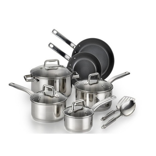 T-Fal Precision Ceramic Stainless Cookware Set