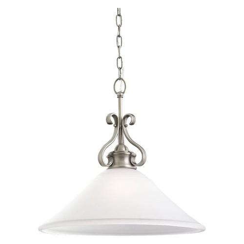 Sea Gull Lighting Parkview 1-Light Antique Brushed Nickel Pendant