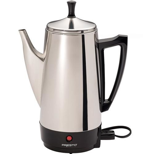 Presto 02811 12-Cup Stainless Steel Coffee Maker [Silver, 12 Cup]