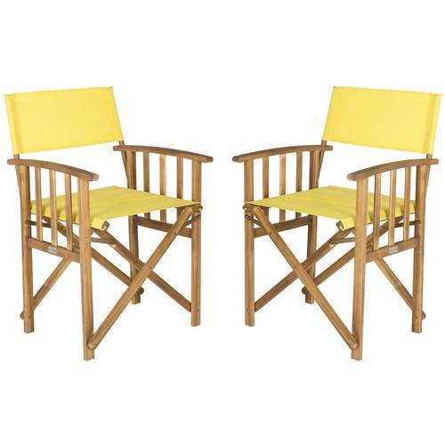Laguna Director Chair in Yellow design by Safavieh