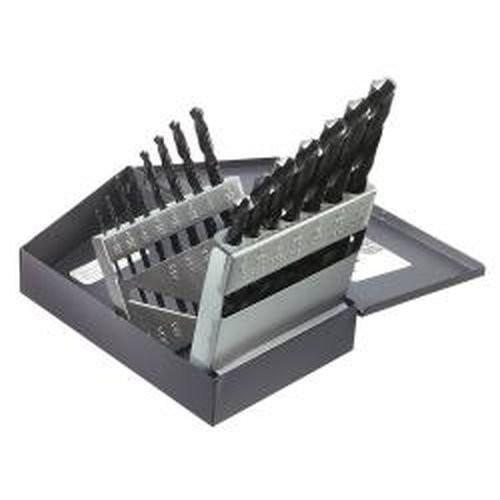 Klein Tools 53001 Regular-Point Drill-Bit Set, 15-Piece [15-Piece]