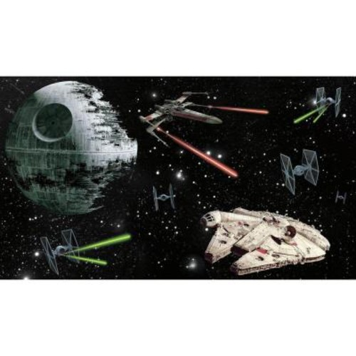 RoomMates 72 in. W x 126 in. H Star Wars Vehicles XL Chair Rail 7-Panel Prepasted Wall Mural