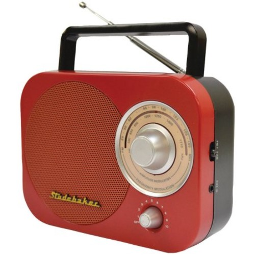 Portable AM/FM Radio in Red