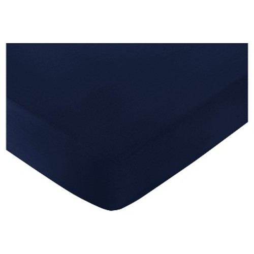 Sweet Jojo Designs Anchors Away Fitted Crib Sheet - Blue