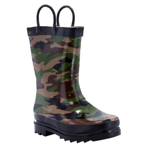 Toddler Boy Camo Rain Boot Green - Western Chief