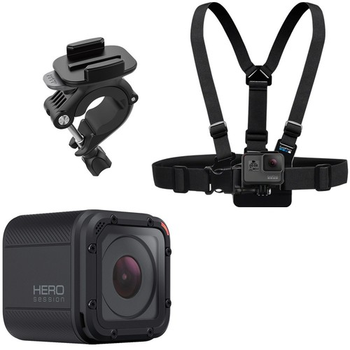 GoPro - Ski Bundle - HERO Session HD Waterproof Action Camera with Chest Mount Harness and Handlebar Mount