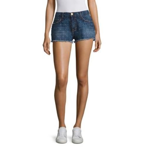CURRENT/ELLIOTT Stat-Print Boyfriend Shorts