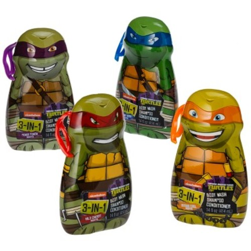 Teenage Mutant Ninja Turtles 3-in-1 Body Wash, Shampoo and Conditioner - Assorted Characters - 1 count