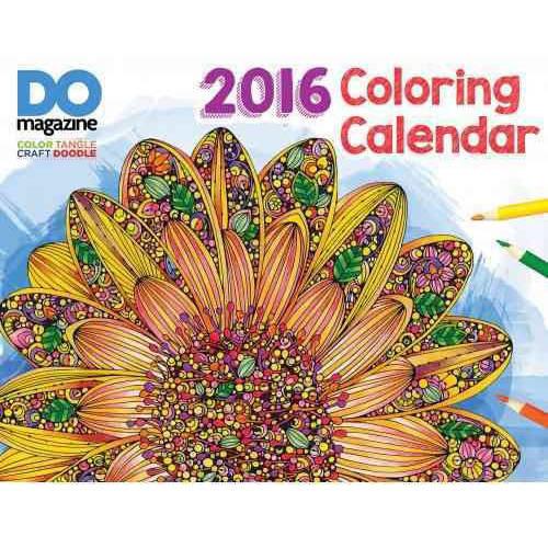 Design Originals-Design Originals Coloring Calendar 2016