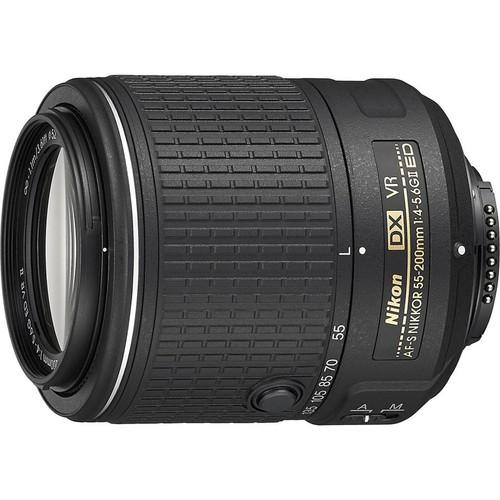 Nikon AF-S DX Nikkor 55-200mm f/4-5.6G ED VR II Telephoto zoom lens for DX format Nikon DSLR cameras