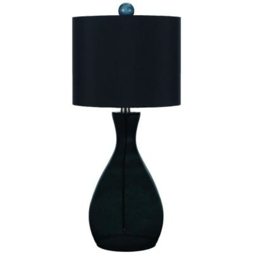 AF Lighting Mercer 26 in. Smoke/Dark Green Hand-Blown Glass Table Lamp