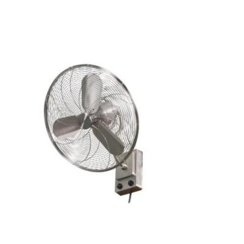 Home Decorators Collection Bentley III 22 in. Indoor/Outdoor Brushed Nickel Oscillating Wall Fan