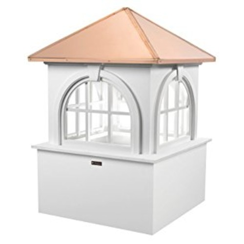 Good Directions Smithsonian Arlington Vinyl Cupola with Copper Roof, 30