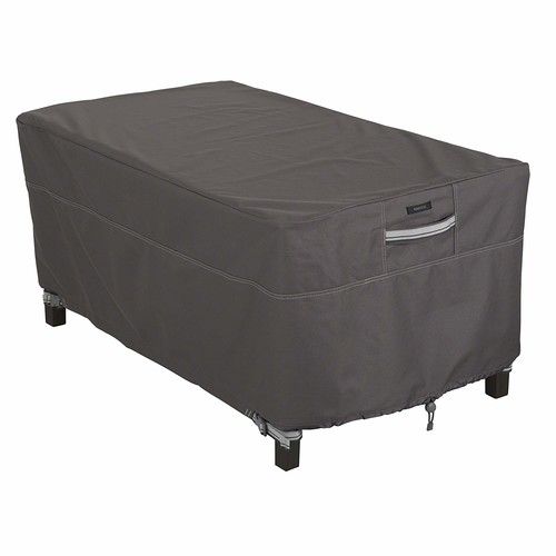 Classic Accessories Ravenna Rectangular Patio Coffee Table Cover - Premium Outdoor Furniture Cover with Durable and Water Resistant Fabric (55-327-015101-EC)