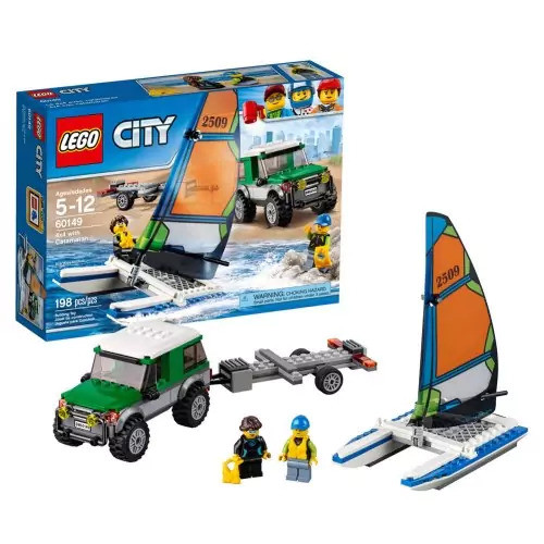 LEGO(R) City Great Vehicles 4 x 4 Truck with Catamaran (60149)