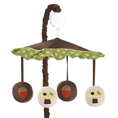 Sweet Jojo Designs Forest Friends Musical Baby Crib Mobile