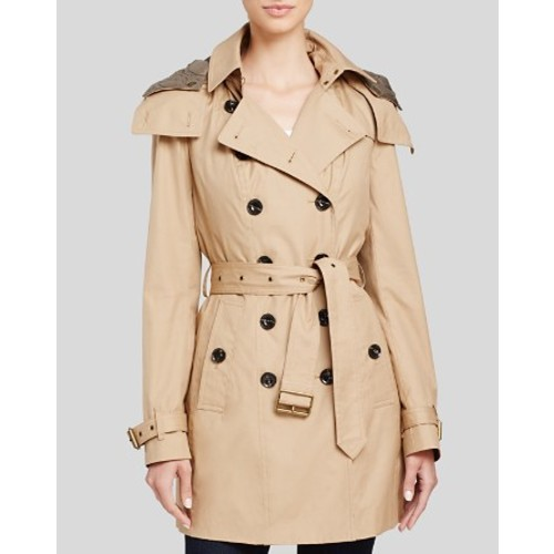 BURBERRY Reymoore Hooded Cotton Trench Coat