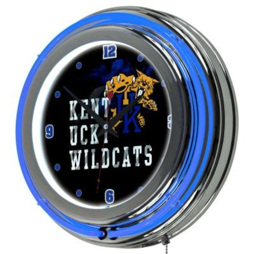 Trademark Global University of Kentucky 14 in. x 14 in. Smoke Round Neon Wall Clock