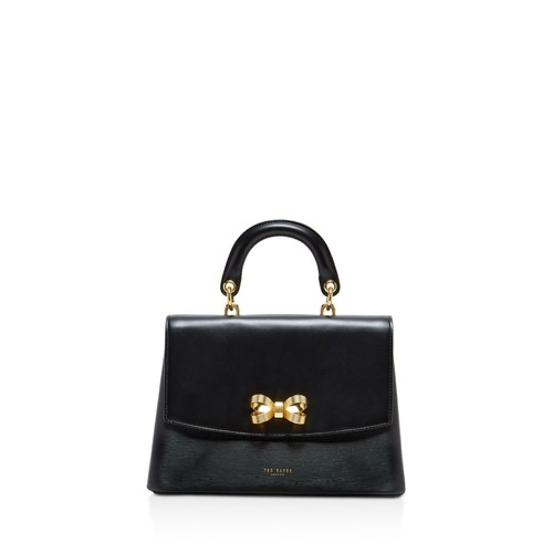TED BAKER Looped Bow Lady Leather Satchel