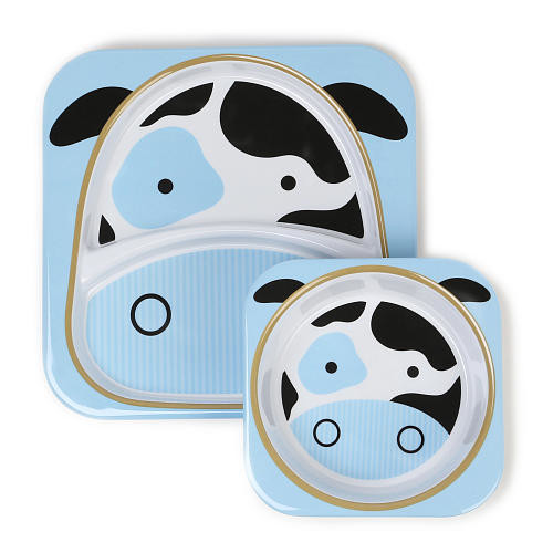 Skip Hop Zoo Divided Plate - Cheddar Cow