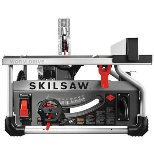 SKILSAW 15 Amp Corded Electric 10 in. Portable Worm Drive Table Saw Kit with 30-Tooth Diablo Carbide Blade