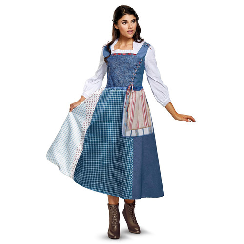 Womens Disney's Beauty and the Beast Belle Village Dress Halloween Costume - Adult Size