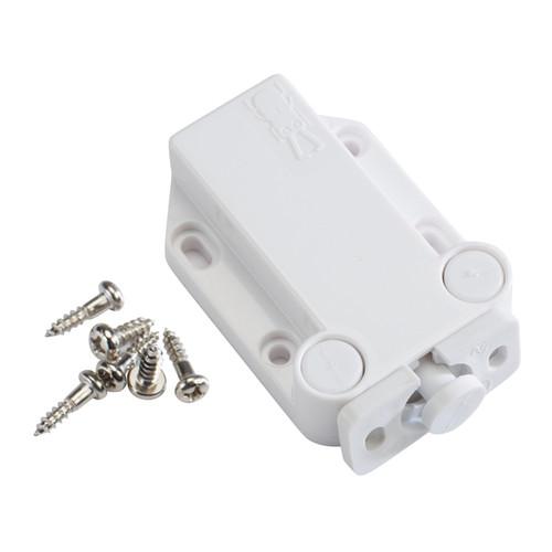 Sugatsune LAMP Non-Magnetic Touch Latch Safe Push Latch White - Sugatsune Non-Magnetic Touch Push Latch, White