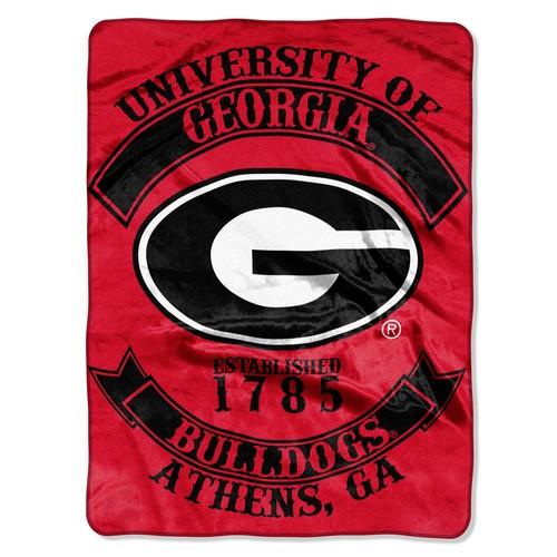 NCAA Plush Throw - Georgia Bulldogs