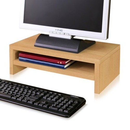 Eco Friendly 2-Shelf Monitor Stand Riser Natural - Way Basics
