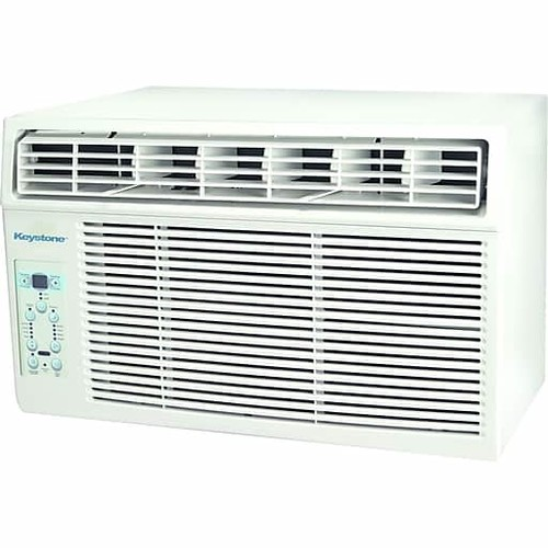 Keystone KSTAW06C 6,000 BTU 115V Window-Mounted Air Conditioner with