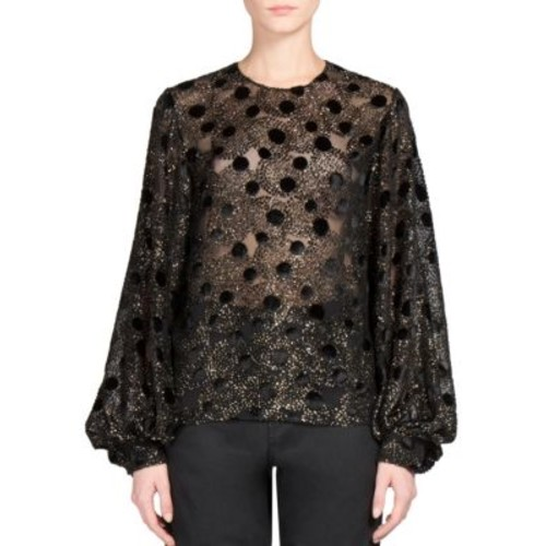 SAINT LAURENT Velvet Fil Coupe Blouse