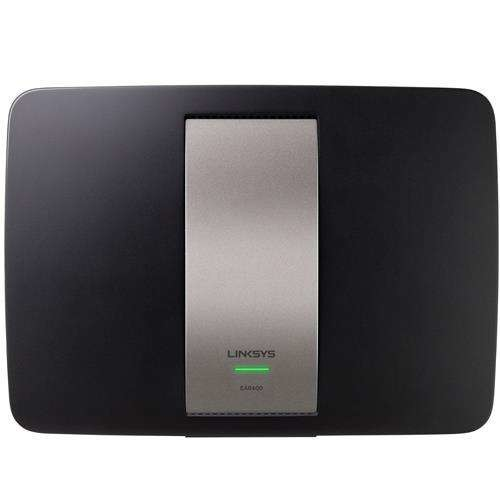Linksys AC1600 Dual-Band Smart Wi-Fi Router - 4-port switch, Gigabit Ethernet, 802.11a/b/g/n/ac, USB port, Black - EA6400