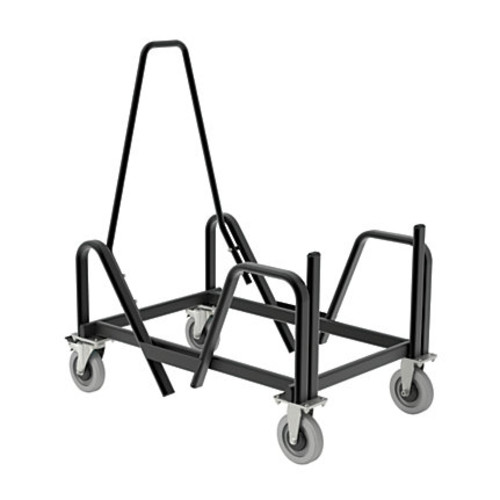 HON Motivate Chair Cart For High-Density Stackers, Black