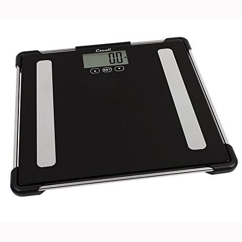 Escali Glass Body Analyzing Bathroom Scale, 400 Lb / 180 Kg